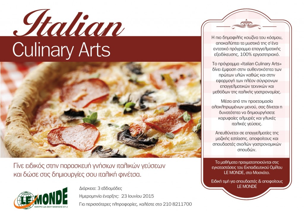 ITALIAN CULINARY_SUMMER COURSES_2015